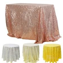 Sequin Tablecloth Birthday-Party-Decor Glitter Christmas Banquet Wedding Round/rectangular