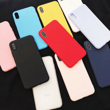 Candy Color Silicone Phone Case For Iphone X 7 8 Xs Max Xr 6s 6 Plus Ultra Thin Tpu Soft Back Cover case For Iphone 5s Se 5 6 S(China)