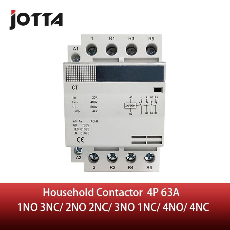 4P 63A 220 V/230 V 50/60 HZ, carril din hogar ac contactor 1NO 3NC/2NO 2NC/3NO 1NC/4NO/4NC TOCT1 2P 25A 220 V/230 V 50/60 HZ, carril Din hogar ac contactor Modular 2NO 2NC o 1NO 1NC