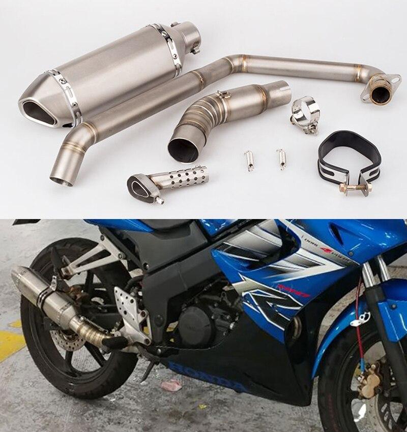 CBR150 Motorcycle Exhaust Muffler full System Link Pipe Carbon Look Muffler Escape Damper Leak for Honda CBR 150 Motorcycles|Exhaust & Exhaust Systems| |  - title=