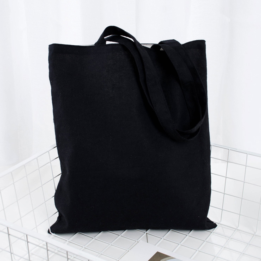 Soft Universal Large Capacity Cotton Blend Solid Tote Bag Eco Freindly Multipurpose Reusable Natural Storage School Shopping
