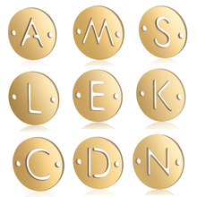 5pcs/lot 100% Stainless Steel Initial Name Charms Vnistar DIY Alphabet Pendant Charms 26 Letter Jewelry Making Charms Wholesale