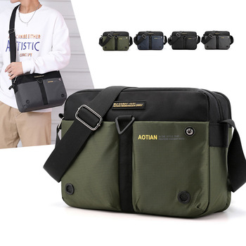 Scione Nylon Shoulder Bags Men Casual Travel Waterproof Single Bag men Sling Cross Body Messenger Male iPad
