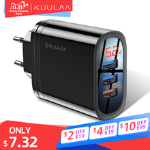 KUULAA cargador USB de carga rápida para móvil, Cargador USB 3,0 de carga rápida de 30W QC3.0 QC con varios enchufes para iPhone, Samsung, Xiaomi y Huawei