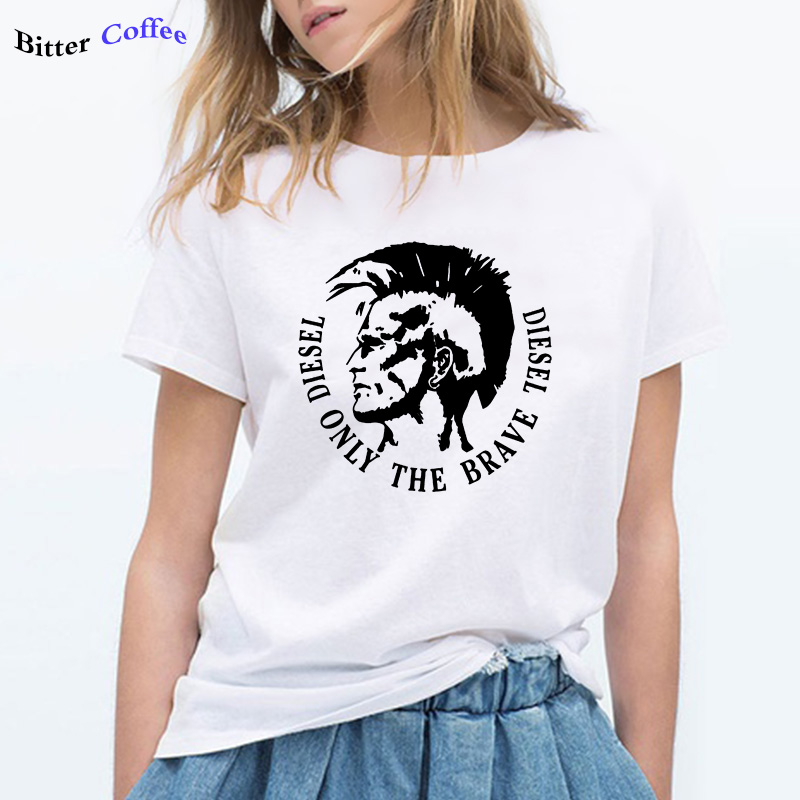 NEW Diesel Only The Brave Diesel 100% Cotton Summer Loose O-neck Women T Shirt Casual Short Sleeve Female Cool O-neck T-shirt