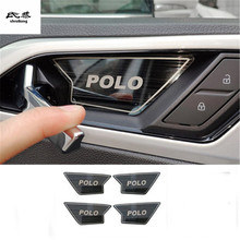 4 шт./лот нержавеющая сталь Межкомнатная дверь встряхивание чаша декоративная крышка для- Volkswagen VW POLO автомобильные аксессуары