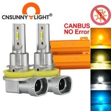 CNSUNNYLIGHT H11 H4 Canbus LED רכב H7 H8 9005 9006 ראש קדמי ערפל אורות 35W/הנורה לבן HB3 HB4 H9 H16jp אוטומטי Foglight luz לאמפה