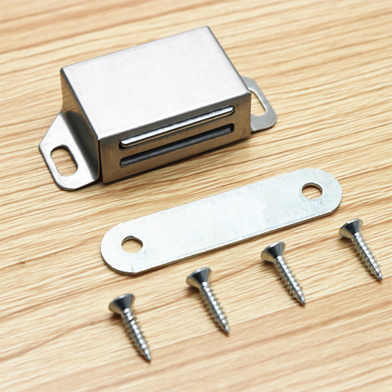 Magnet Stainless Steel Closet Latch 4pcs Thin Magnetic Door Cabinet Catch