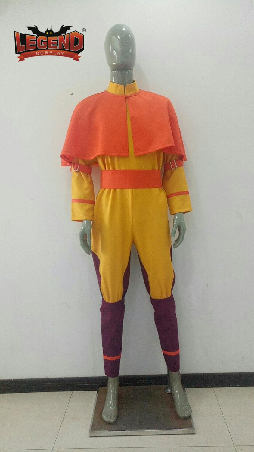 Anime <font><b>Avatar</b></font> The Last Airbender Bumi <font><b>Avatar</b></font> <font><b>Aang</b></font> Cosplay Costume Custom Made image