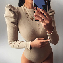2020 Spring Women Sexy Bodysuit Winter Fashion Casual Bodycon Solid Knitted Bodysuits