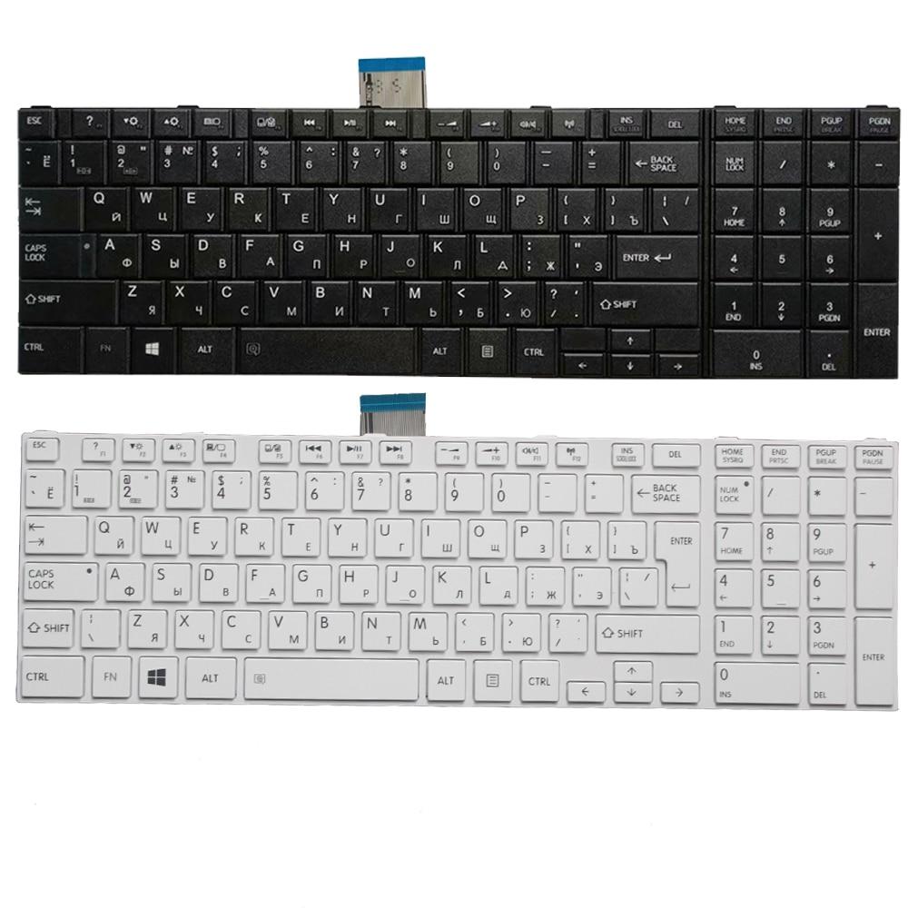 RU Keyboard For Toshiba Satellite C50-A C50-A506 C50D-A C55T-A  C55-A C55D-A Russian Laptop Keyboard White/black