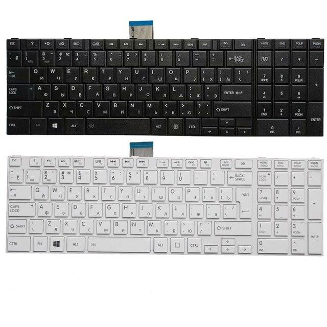 RU клавиатура для Toshiba Satellite C50 A C50 A506 C50D A C55T A C55 A Русская клавиатура для ноутбука белый/черный