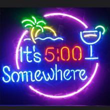 Custom It s 500 Somewhere Glass Neon Light Sign Beer Bar