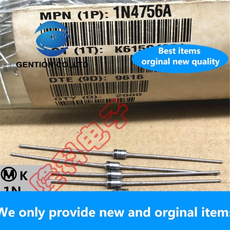 30PCS 100% New Original Best 1N4756A 1W Straight Plug 47V Zener Diode Classic M Standard Silver Seed MOT DO-41 IN4756A