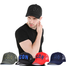 LA ICON Cotton Summer Baseball Cap for Men Women Embroidery ICON Black Dad Hat Hip Hop DSQ Trucker Cap Hombre Gorras Casquette(China)