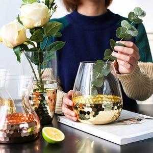 Image 1 - Europeo Disposizione Dei Fiori Fatti A Mano di Vetro Con Trasparente Bottiglia di Acqua Decorazione Della Casa di Nozze Pianta Vaso Decorativo