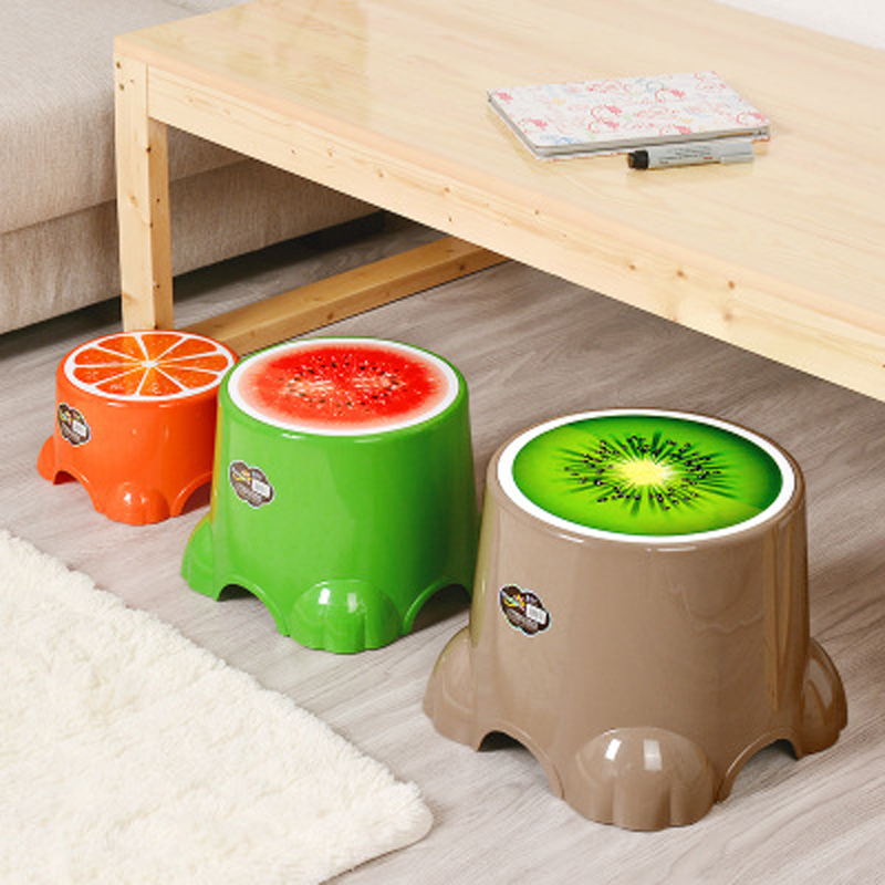 Fruits Small Stool Children Stool Lovely Plastic Stool Round Stool Baby Shower Room Small Chairs