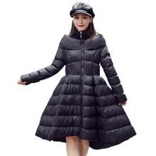 Cotton Jacket Parkas Women Coat Bio-Fleece Fashion Long New Medium Filler Windproof Winter