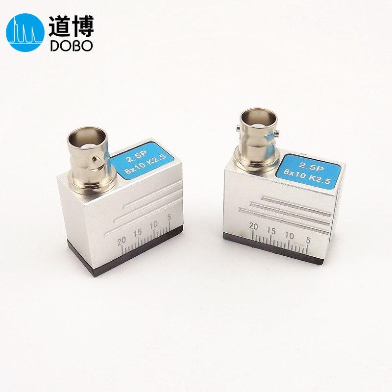 DOBO 2.5P8 X 10K2.5 Upper Interface Ultrasonic Flaw Detector Oblique Probe Universal Weld Steel Pipe Detection UT Transverse Wav
