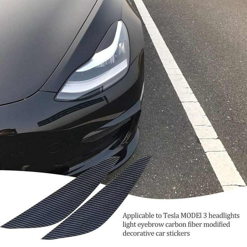 Auto Scheinwerfer Augenbrauen Augenlid Trim Aufkleber Ersatz f/ür Tesla Model 3 Scheinwerfer Lampe Augenbrauen Aufkleber Dekoration