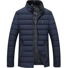 Mens Down Cotton Winter Jacket Vertical Collar Parkas Hooded Coat Suit