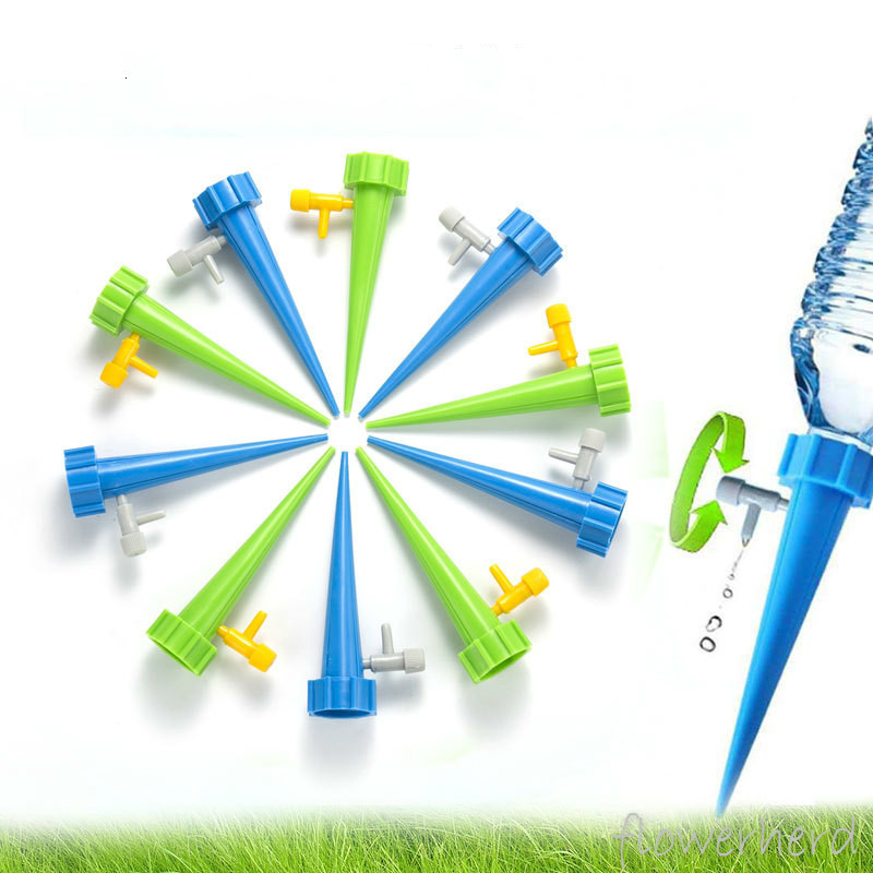 Auto Watering Kits Adjustable Water Flow Self Watering System With Switch Control Valve Automatic Irrigation For Home Garden