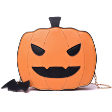 Women Shoulder Bag For Halloween 2019 Leather Fashion Creativity Easter Pumpkin Lamp Handbags Women Easter Shoulder Bag Gift Bag