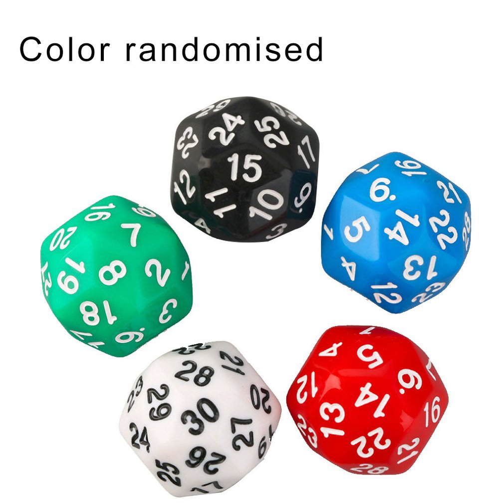 \30-faced Digital Dices Colorful Multicolor Dice Game Dice Multi-faceted Children's Creative Toys
