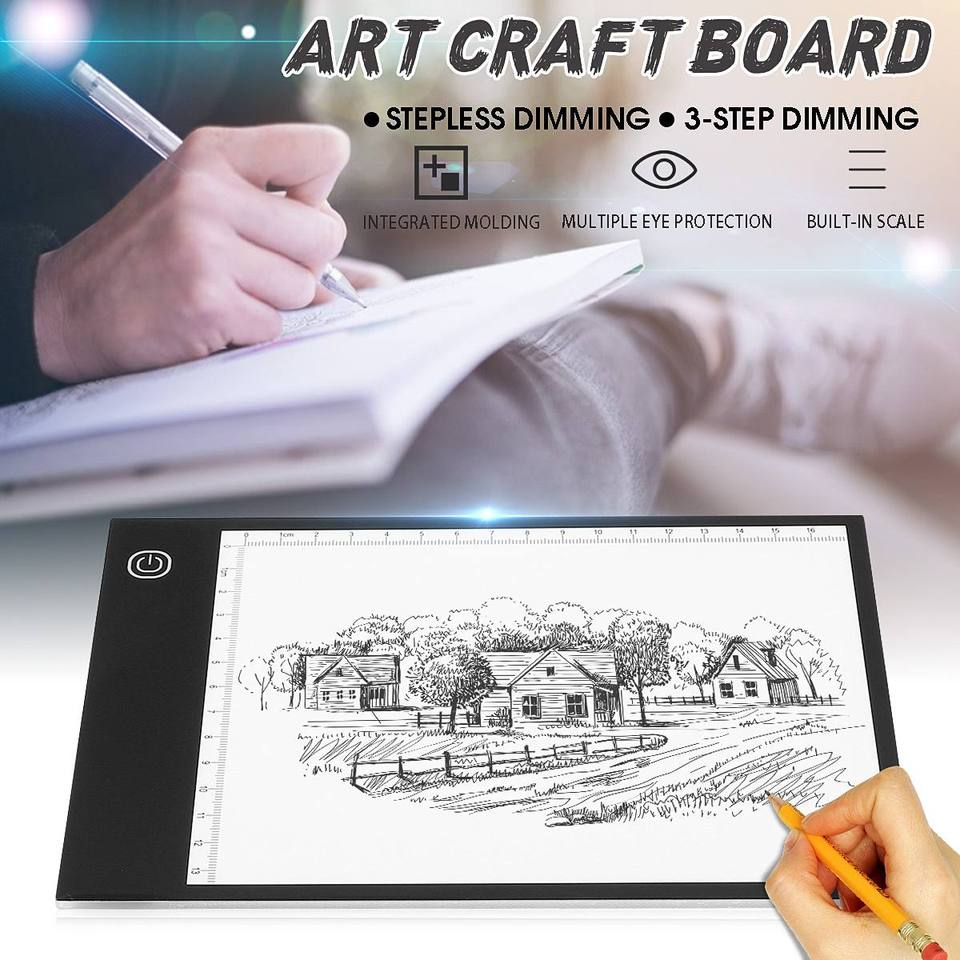Tracing Light Box 5 Art Drawing Copy Pad Table+USB Cable