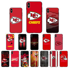 Kansas City Chiefs logo FAI DA TE Bella Accessori Del Telefono di Caso per il iPhone di Apple 8 7 6 6S Plus X XS MAX 5 5S SE XR 11pro max Copertura(China)