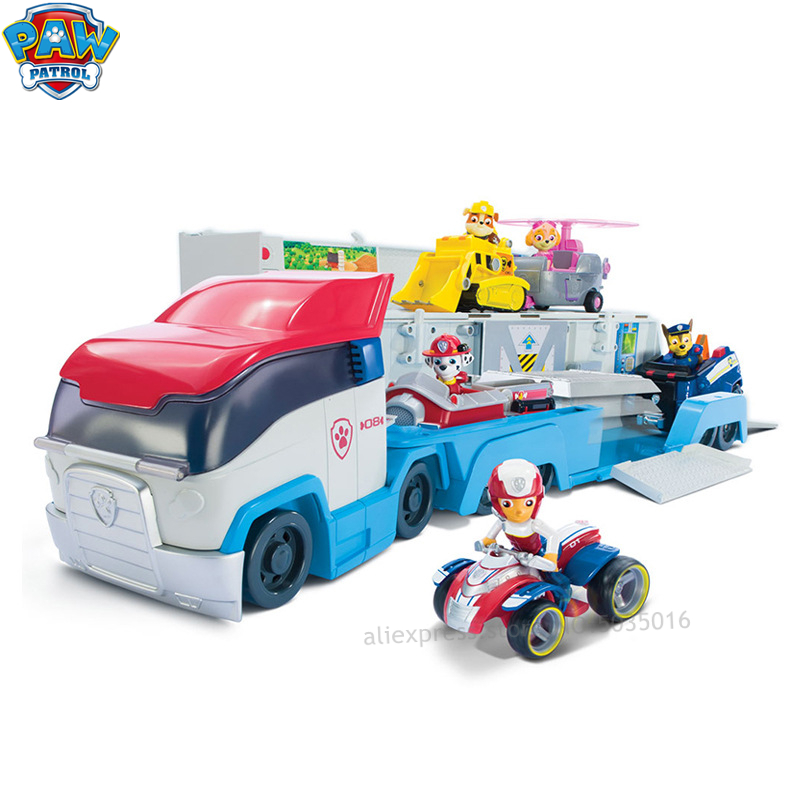 Paw Patrol Mobile Large Rescue Bus Puppy Patrol Car Wangwang Team Deformation Children's Toy Set Gifts