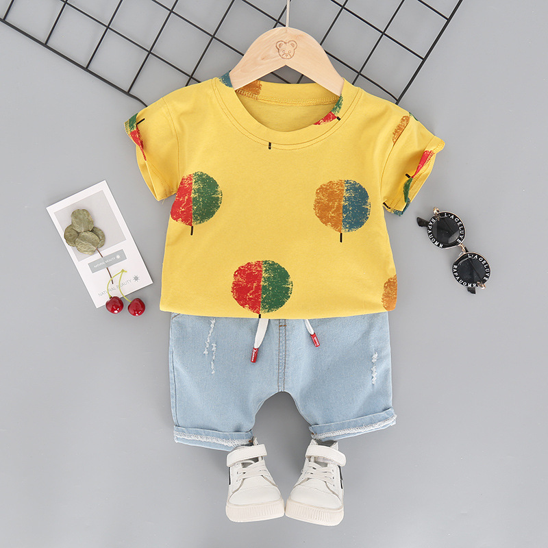 New Style Children's Short Sleeved Two-Piece Set L4.19 2