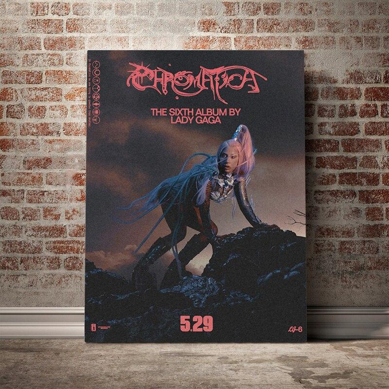 "Lady Gaga /& Ariana Grande /""Rain On Me/"" Art Music Album Poster HD Print Decor"