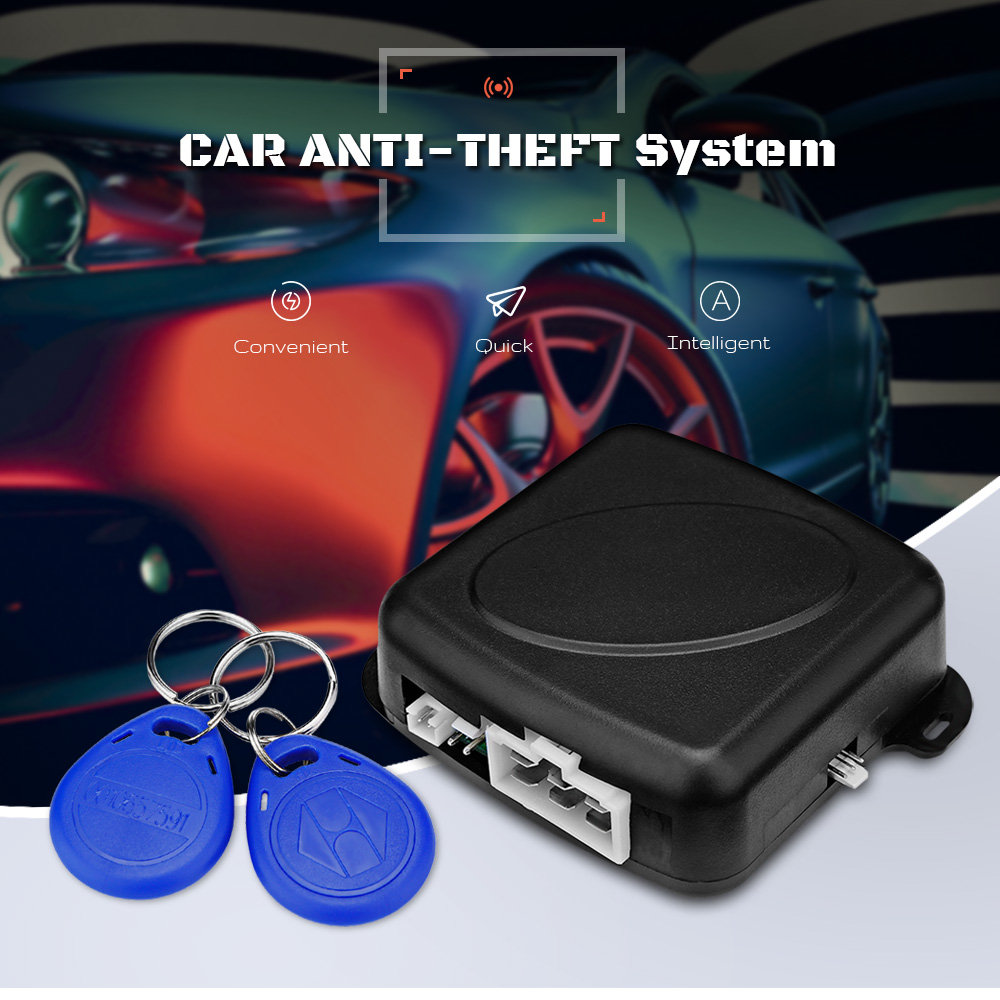 Car Start Button RFID Engine Push Lock Two-way Anti-theft Alarm System Ignition Starter Keyless Entry Immobilizer ACC-ON-OFF