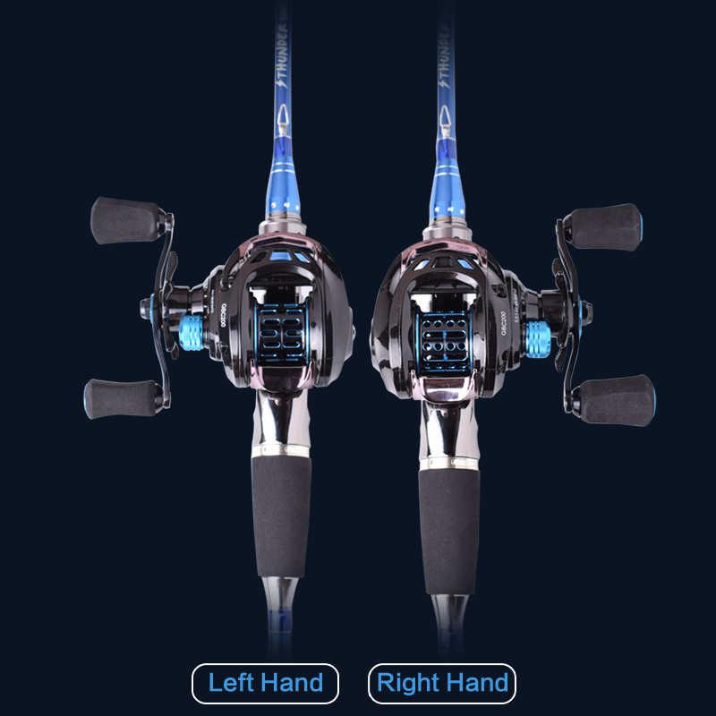 Mavllos GB 152g الترا ضوء BFS Baitcasting الصيد بكرة اليسار اليد اليمنى مزدوجة المعادن بكرة 6.5: 1 الصيد الطعم الصب بكرة