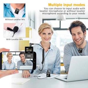 Image 4 - Comica boomx d2 profissional mini 2.4g microfone sem fio digital com mono/estéreo modos de saída comutável para câmera