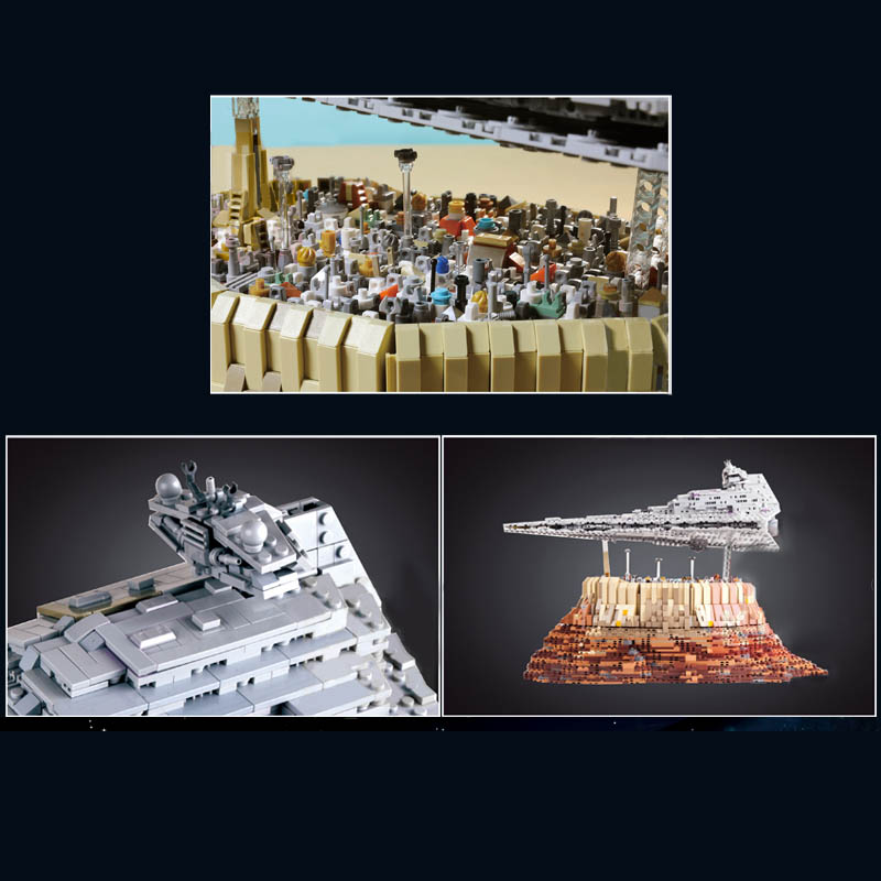 MOULD KING 21007 The MOC-18916 Empire over Jedha City Model Building Blocks