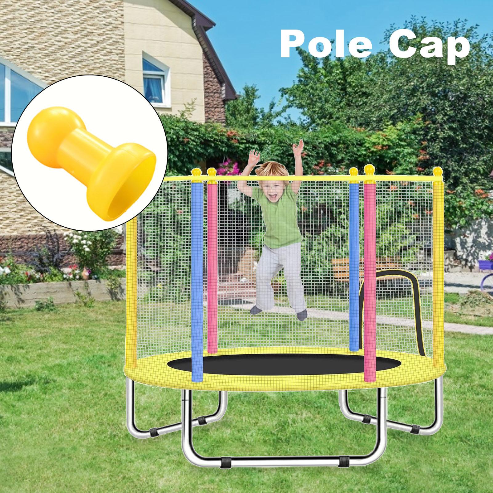 ChildrenTrampoline Pole Cap Steel Pipe Top Cover Yellow Plastic Cover For Children Trampoline Outdoor Sport Accessories
