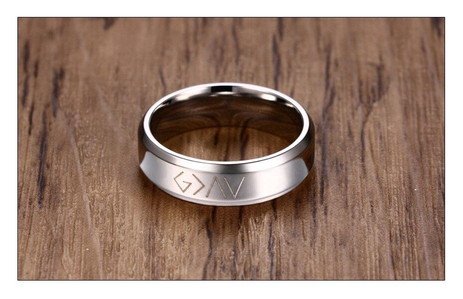 Black Stainless Steel Men's Ring