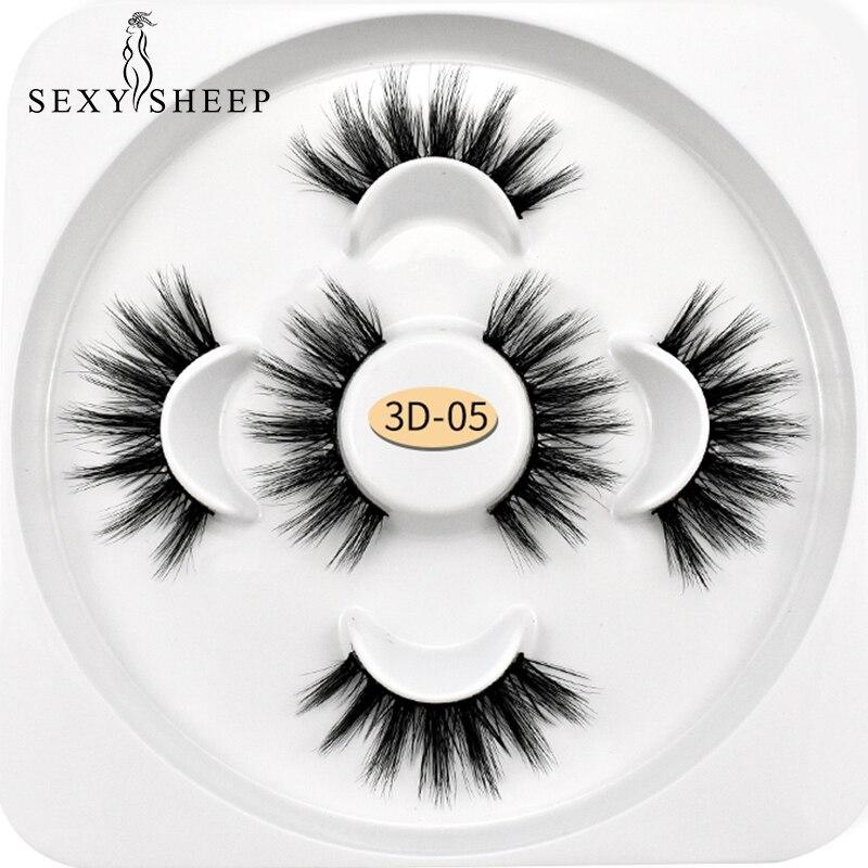 SEXYSHEEP 3pairs 3D Mink Lashes Natural Long False Eyelashes Volume Fake Lashes Makeup Extension Eyelashes Maquiagem