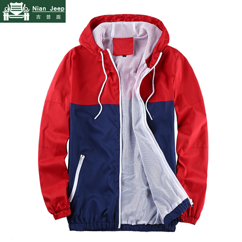 Thin Jacket Hooded-Coat Spring Patchwork Streetwear Sunproof Autumn Male Camouflage New