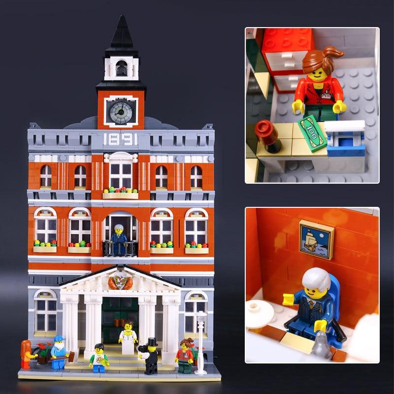 2859pcs Schepper 15003 Town Hall Bouwstenen Blok Model Compatibel Met Lego 10224 Straat Set-in Blokken van Speelgoed & Hobbies op  Groep 1