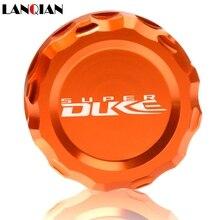 For KTM 990 SupeRDuke 2005 2006 2007 2008 2009 2010 2011 2012 Motorcycle CNC Aluminum Rear Brake Fluid Reservoir Cover Cap цена