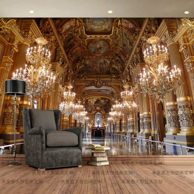 Custom Paris Versailles Corridor 3D Photo Wallpapers Mural For Living Room Restaurant Hotel Luxury Home Decor Wall Paper 3D