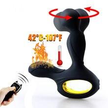 Umania controle remoto sem fio masculino massageador de próstata silicone vibrador anal 10 velocidade butt plug brinquedos sexuais para homens masturbador