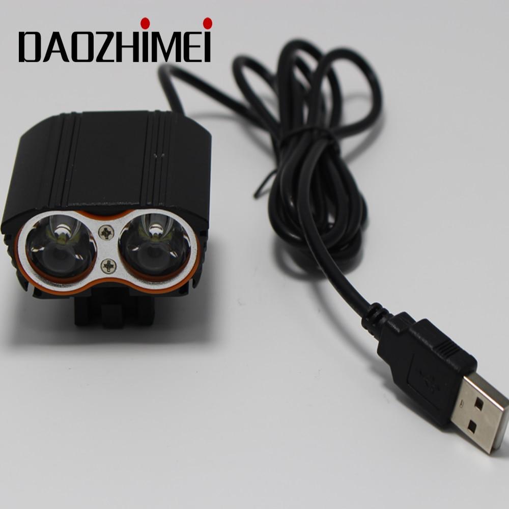 Mini USB Square XM-L T6 4 Modes LED Front Bike Bicycle Light Headlight Lamp