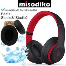 Misodiko [업그레이드 된 냉각 젤] beats studio 3, studio 2.0 이어폰 헤드폰, 수리 용 이어 패드 용 교체 쿠션 이어 패드