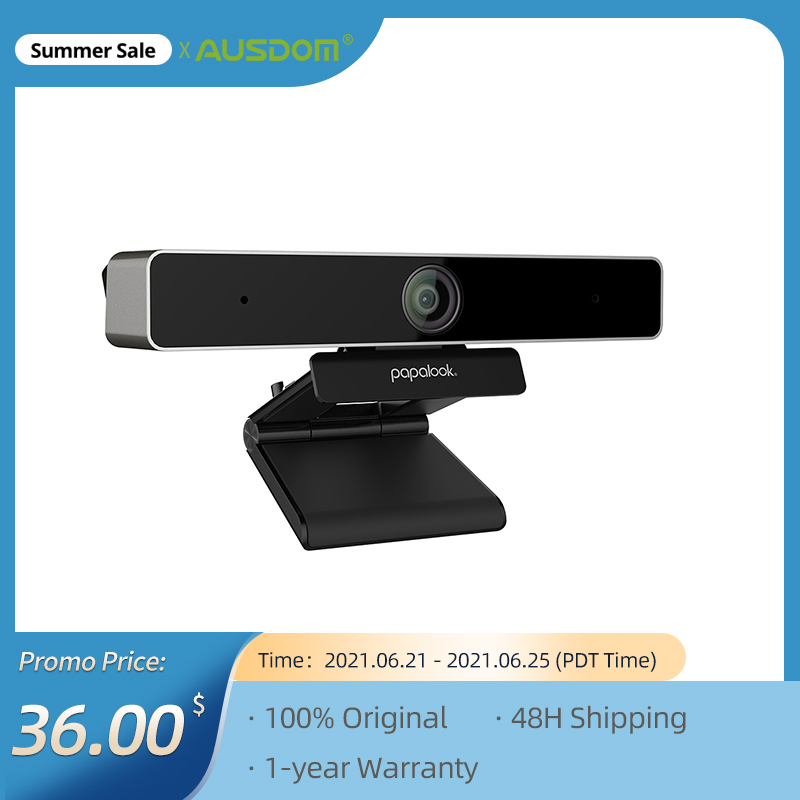 PAPALOOK PA920 מצלמת אינטרנט 1080P HD 5MP Ultra 2K חי אינטרנט מצלמה עם מיקרופון כפול, חצובה עבור ועידות וידאו