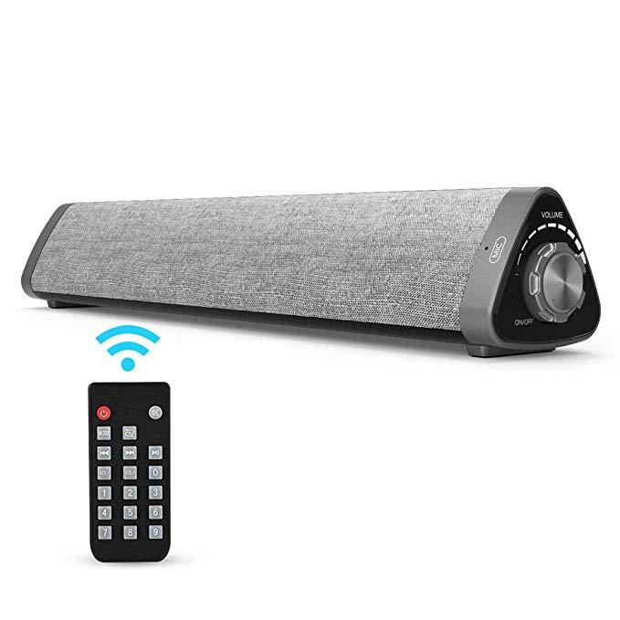 Haut-parleurs d'ordinateur Bluetooth XINGDOZ 2.0 canaux, haut-parleur Surround Home cinéma filaire et sans fil avec caissons de basses intégrés
