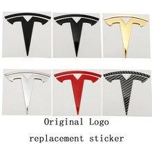 Autocollant de rechange en métal avec Logo Original de voiture, pour Tesla modèle 3, autocollant avant et arrière, emblème de remplacement, accessoires